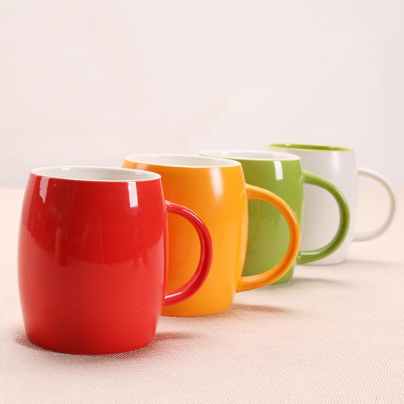 创意杯子马克杯星巴克咖啡杯大肚陶瓷杯水杯礼品定制LOGO酒桶杯