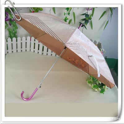 销售定制太阳伞 8片弯把直杆伞 广告伞 长柄雨伞 手撑伞印字伞6色