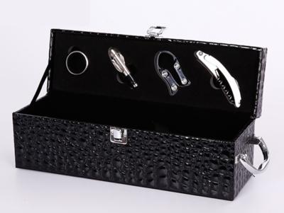 新款红酒盒单支装皮盒红酒礼盒包装盒单支冰酒盒红酒盒子拉菲酒盒