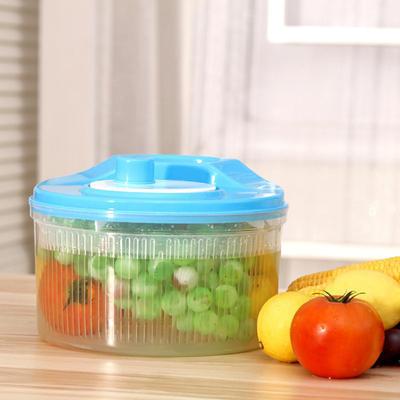 厂家直销广告新款果蔬沥水果篮 果蔬清洗蔬菜篮塑料篮批发