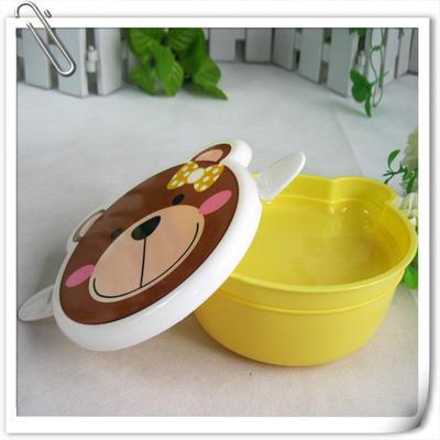 厂家定做可爱熊儿童便当盒饭盒 卡通广告保温多用塑料午餐盒 印字