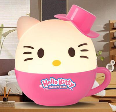 创意时尚KT猫快到杯里来台灯 可爱儿童宝宝幼儿园卧室创意台灯批发可定制