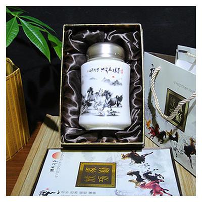马到成功茶叶罐单装 商务礼品 陶瓷养生保温杯新款陶瓷 可印logo