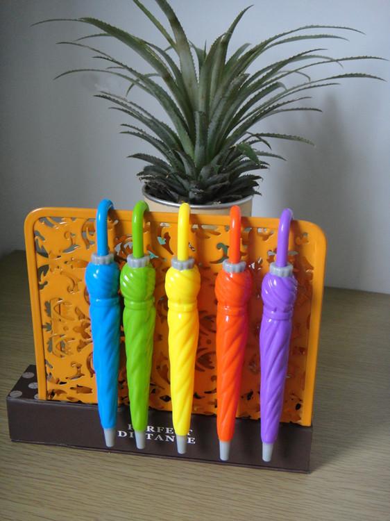 厂家直销 定制可爱多彩雨伞造型圆珠笔 承接大型订单 现货批发