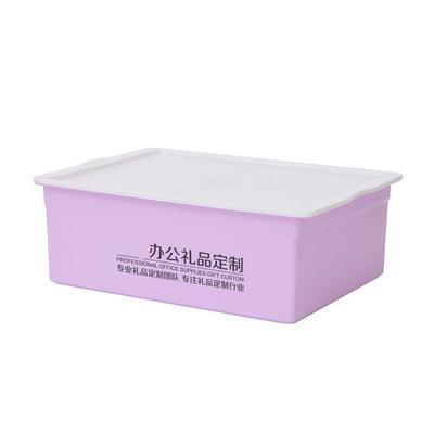 新品多功能塑料收纳箱带盖内衣储物整理箱 定制LOGO