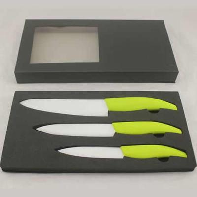 厨房刀具套装不锈钢刀具套装陶瓷刀三件礼品套装(多种颜色选择)