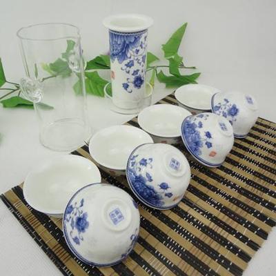 陶瓷茶具红茶茶具(展示布盒包装)青花时尚 会议商务活动礼品
