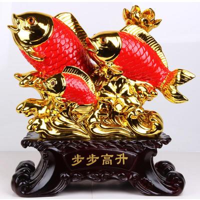 树脂工艺品鱼摆件 富贵有余装饰品