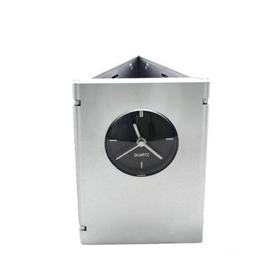 定制 多功能闹钟 折叠闹钟 方型闹钟相框笔筒 定制广告logo