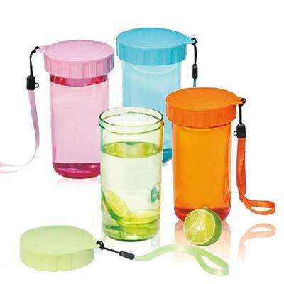 直销定制350ml AS随手杯 带盖便携创意茶杯防漏运动杯 可印LOGO