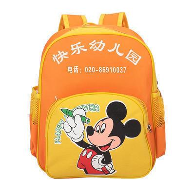 厂家定制幼儿园米奇书包定做 双肩儿童书包广告礼品卡通书包印字批发logo