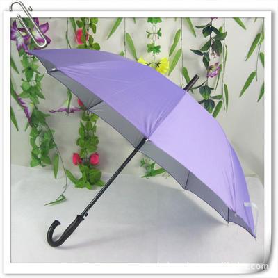 厂家定做弯把10片银胶防紫外线广告伞 钢架 长柄雨伞太阳伞 印字