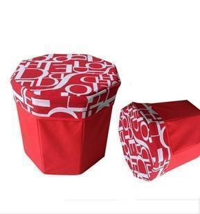 八角收纳凳 多功能储物收纳凳 八角收纳箱牛津布 收纳箱