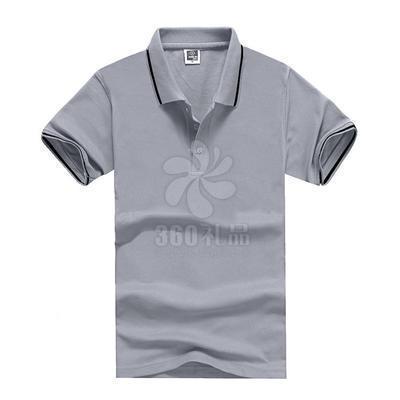 厂家定做色织翻领短袖广告衫定做 工作服校服学生宣传活动 广告衫批发可印制logo