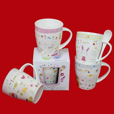 批-2011时尚系列带勺陶瓷杯/马克杯/礼品杯/咖啡杯/水杯/茶杯