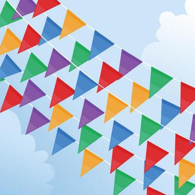 三角彩旗 串旗 警示旗 庆典婚庆 活动会场  旗帜批发 可印制logo