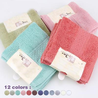 外贸出口纯棉12色方巾 全棉居家儿童方巾 环保染色精美包装