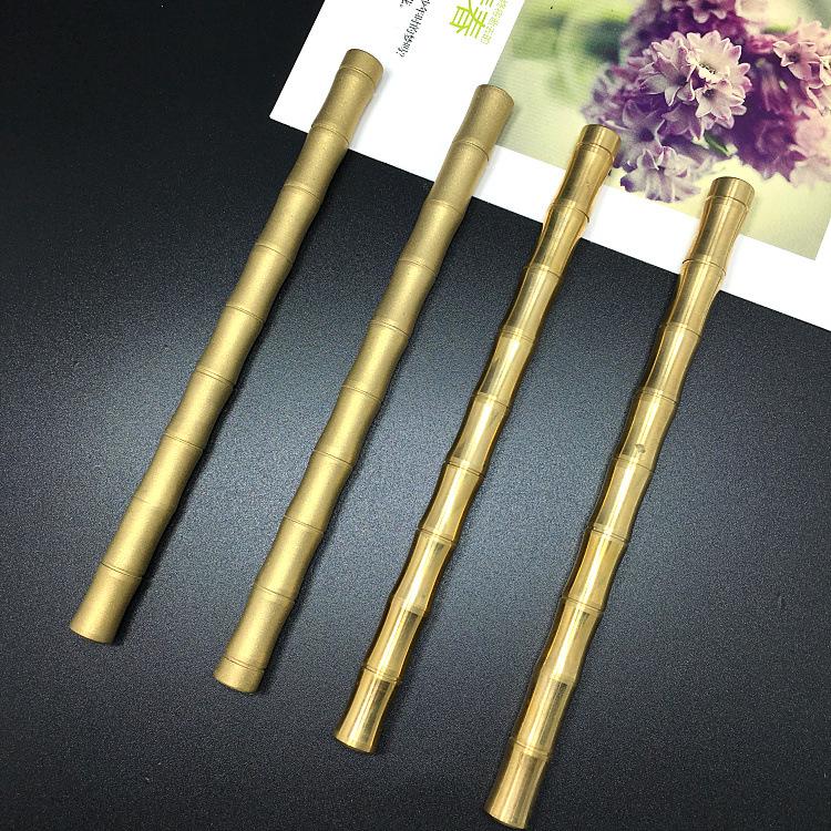 竹节款 黄铜手工制作笔 复古签字铜笔 纯铜金属笔  现货供应