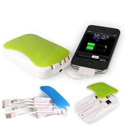 Power bank移动电源 自带充电线内置diy手机充电宝5000毫安