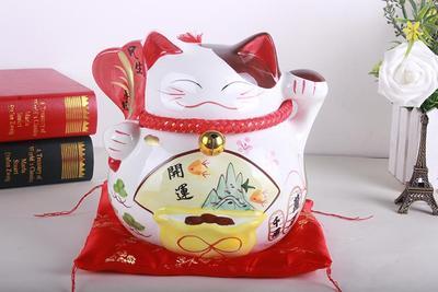 支持混批 陶瓷日本招财猫工艺品摆件 结婚实用开业促销礼品