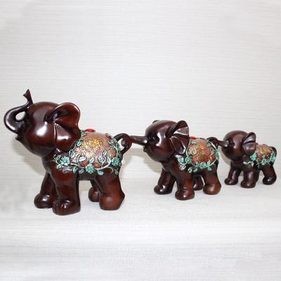 厂家三连象树脂工艺品 创意家居饰品招财摆件 新奇特礼品