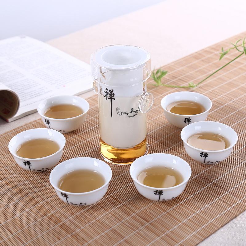 厂家批发高档陶瓷礼品功夫茶具套装特价青花瓷茶具玻璃红茶泡茶器