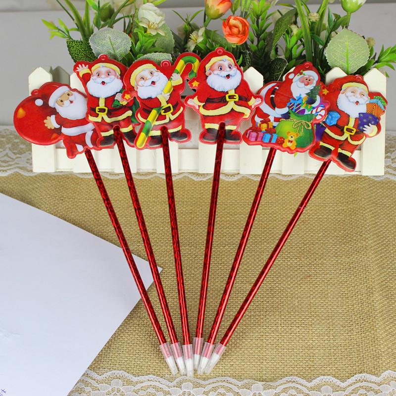 新款圣诞笔 圣诞节礼品 卡通圆珠笔 礼品奖品广告笔