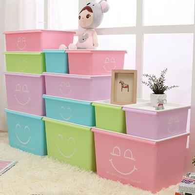 精品塑料收纳箱 整理箱 带盖储物箱 内衣收纳盒定制LOGO