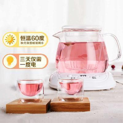 正品4件套耐热茶壶创意 玻璃壶过滤茶具恒温宝套装 保温60℃