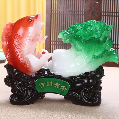 【新款】树脂鱼工艺品摆件 中式风格现代家居装饰摆设