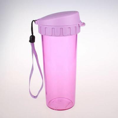 600ml PC炫彩杯防漏杯塑料杯 可做促销礼品情侣对杯 可定制logo