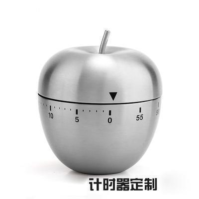 定制 厨房定时器倒计时器不锈钢苹果提醒器 闹钟计时可印logo