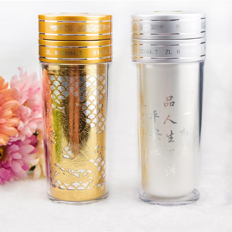 现货批发纯银保温杯 定做互动礼品保健杯 高档金杯广告杯一件代发