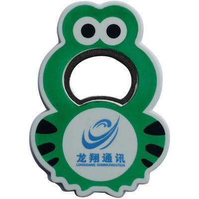 厂家直销批发 可定制logo 简约实用青蛙塑料啤酒开瓶器 啤酒起子