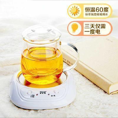 带盖玻璃杯水杯创意过滤蘑菇杯子茶杯恒温宝套装 保温60℃