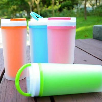 批发定制 订做400ml双层杯 可印制LOGO 颜色鲜亮 直销促销礼品