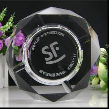 创意水晶烟灰缸 时尚家居 商务馈赠 简单大气 大号精品烟缸