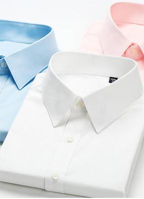 修身型男女短袖工作服衬衫白职业装衬衣男女工装