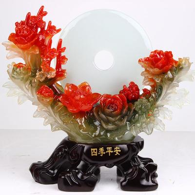 【新款】仿玉四季平安树脂工艺品摆件 家居摆件装饰