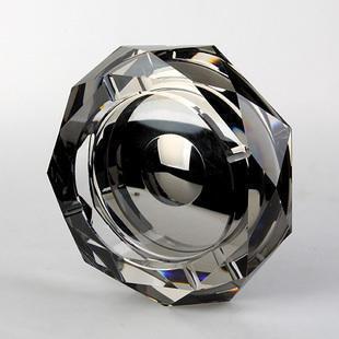 八角镀银水晶烟灰缸 水晶烟缸八角镀银 会议商务活动礼品