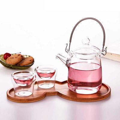 耐热玻璃花茶壶 过滤飘逸茶具整套装 茶盘可选