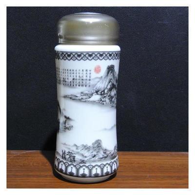 富春山居图保温杯  商务礼品 新款陶瓷养生保温杯 可批发印制logo