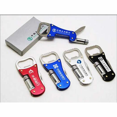 瑞士多功能户外刀具随身小刀 多功能带灯开瓶器 起订量1000套