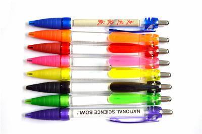 塑料按动拉画笔 创意拉纸广告笔 卷纸笔个性圆珠笔批发定制