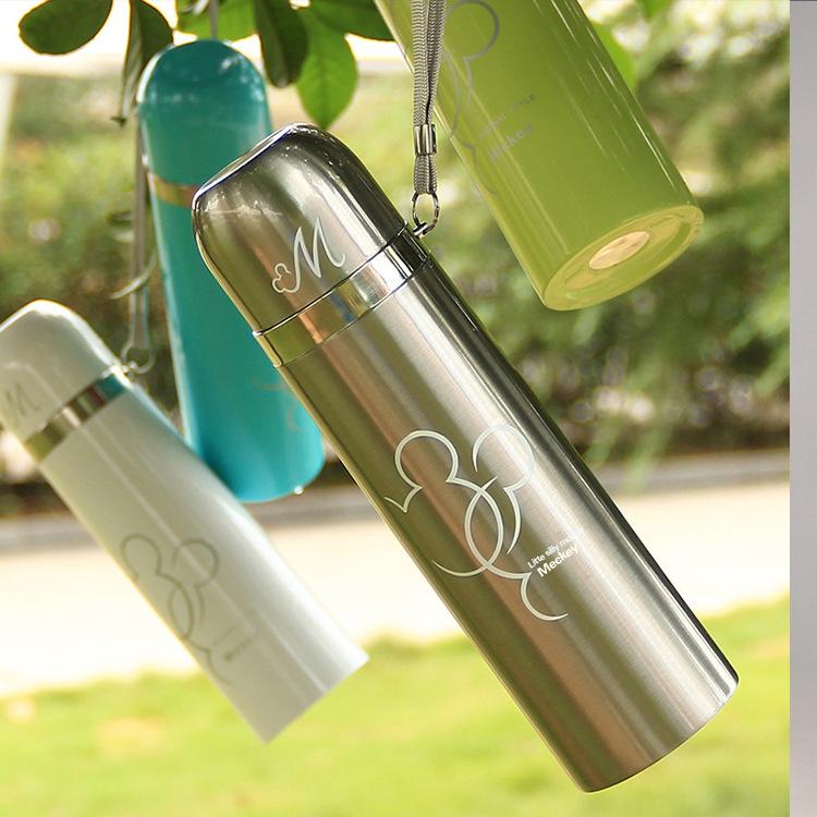 男女士水杯儿童真空吊带双层不锈钢保温杯广告礼品杯刻字百货定制