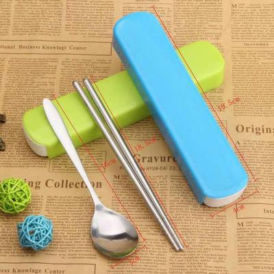 餐具厨具促销礼品 彩塑盒光柄勺筷两件套
