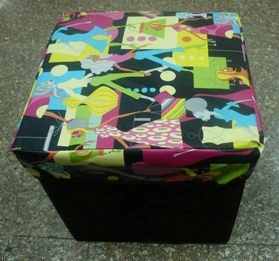 皮革折叠凳 储物凳 可定做厂家直销 PU皮革防水收纳换鞋凳