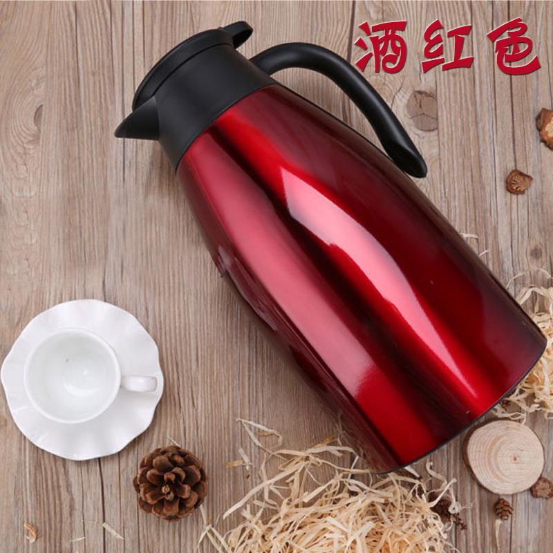 厂家直销304欧式咖啡壶 家用不锈钢保温壶旅行大容量水壶礼品批发